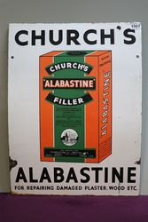Churchand39s Alabastine Filler Enamel Advertising sign