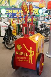 Early Pyramid Top 2 Pump Oil Cart in Shell Stick Man Livery