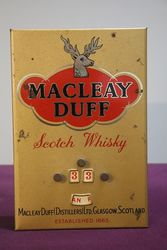 Macleay Duff Scotch Whisky Shop Advertising Sign
