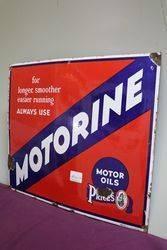 Prices Motorine Motor Oil Enamel Advertising Sign