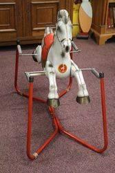 Vintage Mobo and39Prairie Kingand39 Rocking Horse